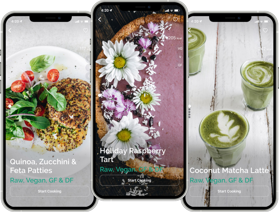 healthy recipes app1 - About Greeny App