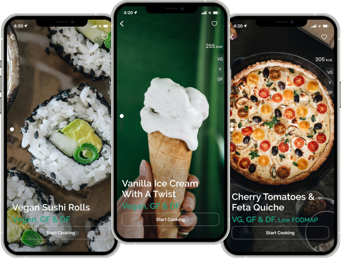 healthy recipes app4 - About Greeny App